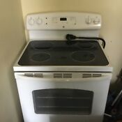 Ge 5 3 Cu Ft Dfww 30 White Freestanding Electric Range Nob