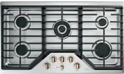 Ge Cafe Cgp95363ms2 36 Stainless 5 Burner Gas Cooktop Nob 43113 Mad