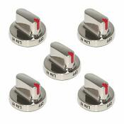 Dial Range Oven Gas Stove Knob Replacement For Samsung Burner Cooktop 5 Pieces