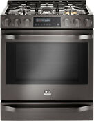 Lg Studio Lssg3019bd 30 Blackstainless Slide In Gas Convection Range 13091 Clw