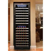 Vinotemp 155 Bottle Dual Zone Wine Cooler With Touch Screen Temperature Control