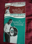 Speed Queen Washer Dryer Booklets Chuck Connors Rifleman 1970 S