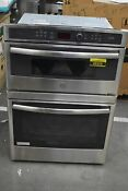 Ge Pt9800shss 30 Stainless Microwave Oven Combo Wall Oven Nob 49326 Hrt
