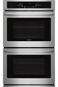 Frigidaire Stainless 30 Electric Double Wall Oven Self Clean Ffet3026ts