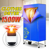 110 240v 1500w Electric Clothing Dryer Home Clothes Drying Portable 2 Tier