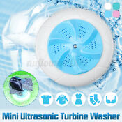 Mini Ultrasonic Washer Washing Machine Portable Rotating Turbine Noise 45db