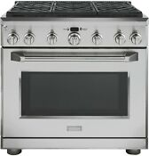 Ge Monogram Zgp366lrss 36 Stainless Pro Style Lp Gas 6 Burner W Oven Range New