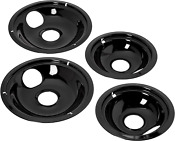 Universal Non Stick Stove Drip Pans Electric Burner Covers Top Replacement Set