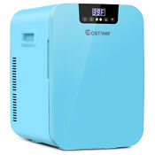 21 Quart Mini Fridge Portable Cooler Warmer Makeup Skincare Refrigerator Blue