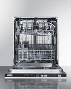New Cosmetically Dented See Pics Summit Dw2433ss2ada Built In Dishwasher 24 W