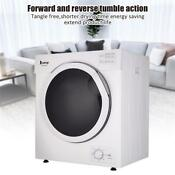 Upgrade Automatic 13lb Capacity 3 2cu Ft Electric Compact Dryer Drying Household