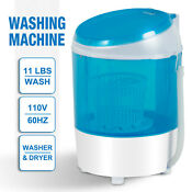 Mini Washing Machine Spinner Dryer Semi Automatic Washer Portable Laundry Blue