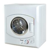 Compact Laundry Dryer 3 5 Cu Ft Stainless Steel Tub 4 Dryer Temperature White