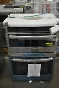 Ge Profile Pt7800shss 30 Stainless Microwave Oven Combo Wall Oven Nob 102859