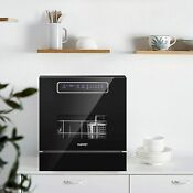 Built In Dishwasher 8 Place Setting Countertop Dishwasher Quick Wash Heavy Wash