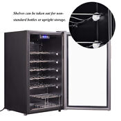 Smad 33 Bottles Wine Cooler Undercounter Beverage Fridge Wine Cellar Collection