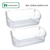 2 Pack 240356402 Clear Refrigerator Door Bin Shelf For Electrolux And Frigidaire