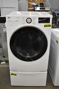 Lg Dlgx4001w 27 White Fl Natural Gas Dryer And Pedestal Set Nob 104601 104659