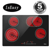 Iseasy 30 Drop In Electric Ceramic Cooktop 4 Burner Touch Control Child Lock Us