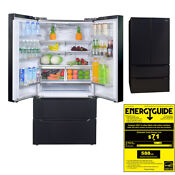 Smad 22 5 Cu Ft French Door Refrigerator Counter Depth 4 Door Black Stainless