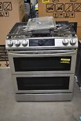 Samsung Nx60t8751ss 30 Stainless Double Oven Gas Range Nob 107514