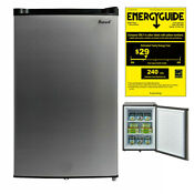 Smad 3 0 Cu Ft Upright Freezer Sleek Stainless Steel Home Dorm Office Chiller