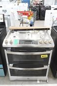 Ge Jgss86spss 30 Stainless Slide In Double Oven Gas Range Nob 104682