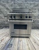 Viking Range 30 All Gas Large Convection Oven 4 Sealed Burners Warranty
