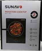 Sunavo Portable Induction Cooktop 1800w Sensor Touch Induction Burner