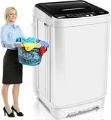21lbs 2 In 1 Automatic Washing Machine Portable Laundry Washer And Dryer Large