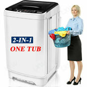 16lbs 2 In 1 Automatic Washing Machine Portable Laundry Washer And Dryer Large S