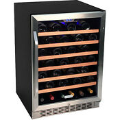 Stainless Steel 53 Bottle Built In Wine Cooler Compact Chill Cellar Refrigerator