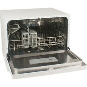 Koldfront Countertop Dishwasher 6 Setting White Compact Portable Dish Washer