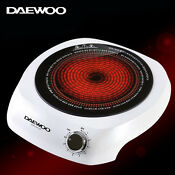 Daewoo Cooktop Electric Range Hotplate Single Portable Hightlight Dwr Sh2500