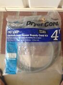 4 Dryer Cord 3 Wire 30 Amp 250 Volts