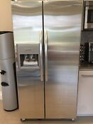 Kitchenaid Side By Side Fridge Stainless Still With Ice Water Kiost Retail 2400