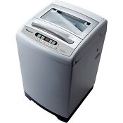 Magic Chef Compact 1 6 Cu Ft Top Load Washer In White With Stainless Steel Tub