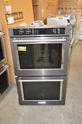 Kitchenaid Kode500ebs 30 Black Stainless Double Electric Wall Oven Nob 15804