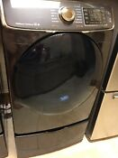 Samsung 7 5 Cu Ft 14 Cycle Gas Dryer With Steam Black Stainless Ext Wrty