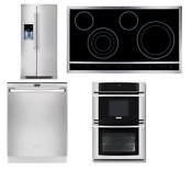 Electrolux 4 Kitchen Package Stainless Refrigerator Wall Oven Dishwasher Cooktop