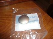 New 22003990 For Whirlpool Washer Dryer Timer Knob Cap Chrome Stainless Steel