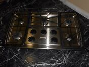 Stainless Steel Gas Top Stove Kitchen Aid 36 Normal Used Regular Scratch
