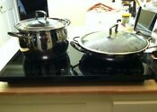 Induction Cooktop Portable Double 2 Electric Burners Countertop Extra Two Glass