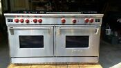 Wolf Professional Series Oven Range Dual Fuel 60 Model R606f