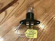 Oem Electrolux Frigidaire Microwave Oven Lamp Holder With Bulb Part 5304464091