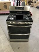 Ge Double Oven Convention Gas Range Self Cleaning Jgb860sejss Stainless Steel