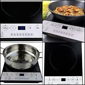 Portable Electric Induction Cooktop Countertop Single Burner 9 Power Levels