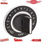 Knob Gas Range Dial Whirlpool Stove Whira Surface Silver Y700854 O E M Part