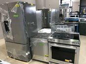 Kitchenaid Stainless 36 Refrigerator Built In Dishwasher Slide In Electric Range