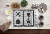 Ge Gas Cooktop 30 In Stainless Steel 4 Burner Brand New In Box Lp Kit Included